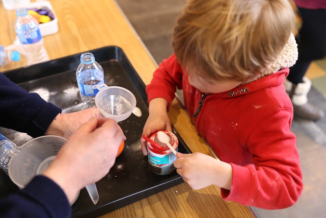 Bicarbonate fizz activity from chapter 8 of Messy Church Does Science
