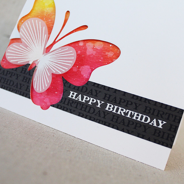 Happy Birthday Butterfly Card 3