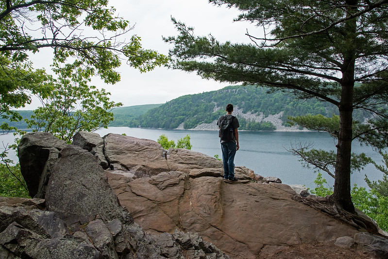 Pausing at Devil's Lake
