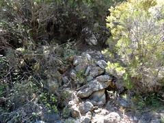 Les soutènements dans le bras principal du ruisseau de Figa