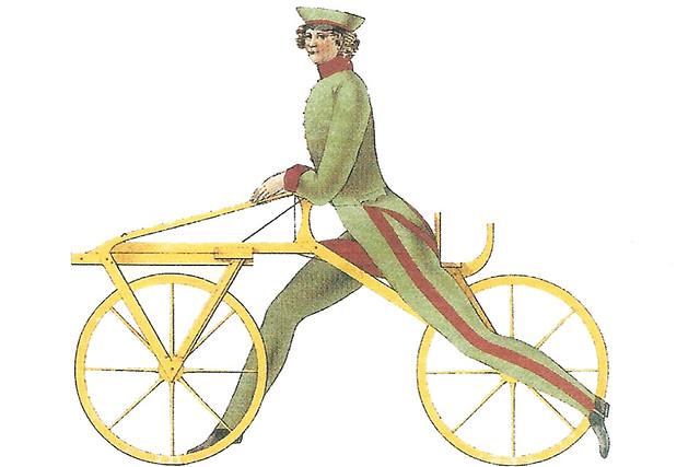 200 Jahre Zweirad ... Mannem-Bike Monnem Bike Laufmaschine, nicht Laufrad ... Freiherr Karl von Drais ... Vorläufer des Fahrrads ... Scan an dem Büchlein: Das erste Zweirad fuhr in Mannheim