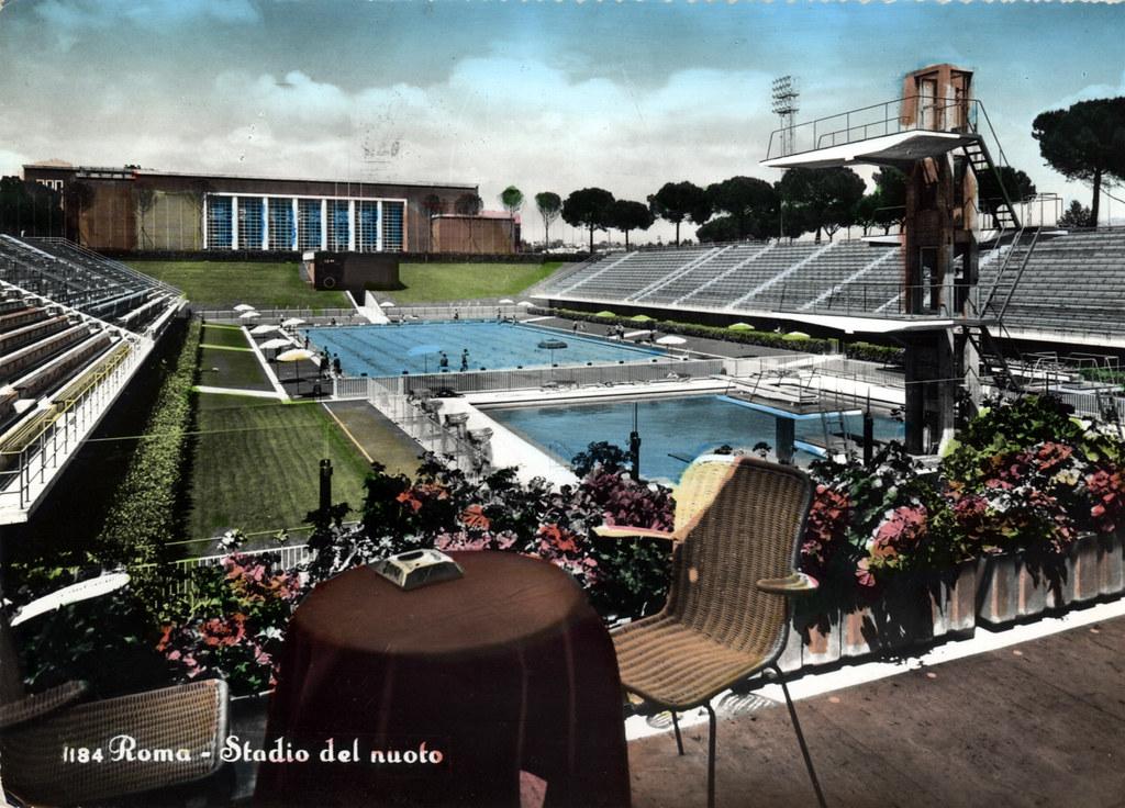 Piscine du Foro Italico à Rome ou Stadio del Nuoto