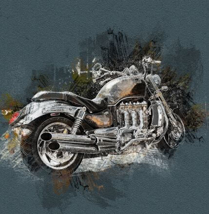 Charcoal and Chalk Sketch Photoshop action – a sketch in charcoal and chalk