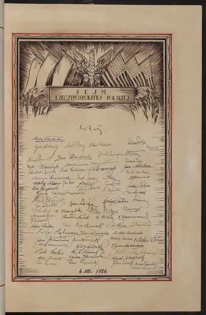 Sejm Rzeczypospolitej Polskiej (The Polish Sejm). From Unexpected Treasures at America's Library: Heartfelt Friendship Between Nations