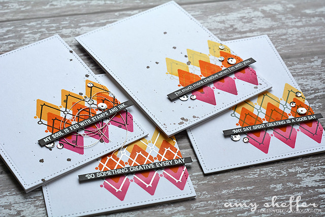Crafty Friends Pink/Orange/Yellow Card Set