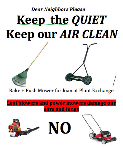 No to leaf blowers | by buhrayin