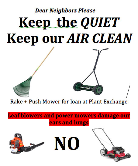 No to leaf blowers