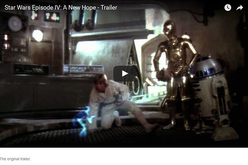 Star Wars original trailer