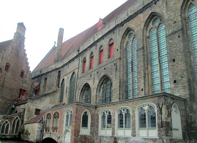 Church with Stained Glass, Bruges
