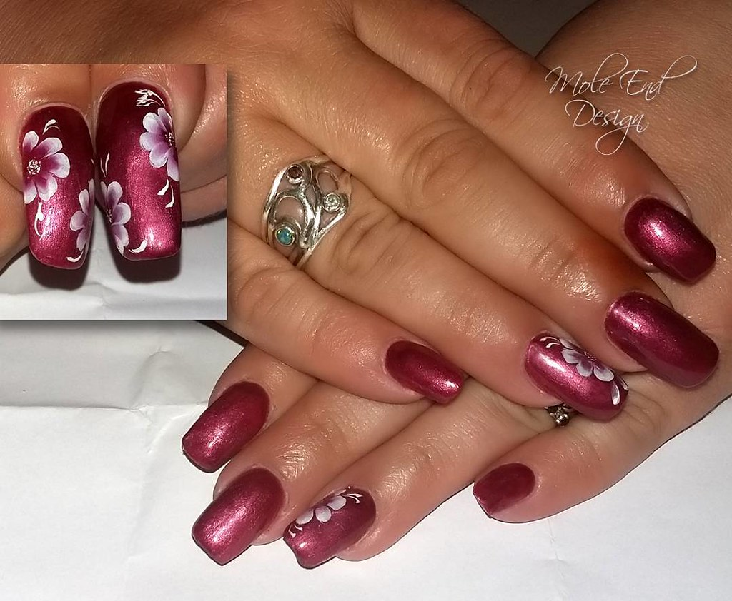 Acrylic overlay on natural long nails. She wouldn\'t let me… | Flickr