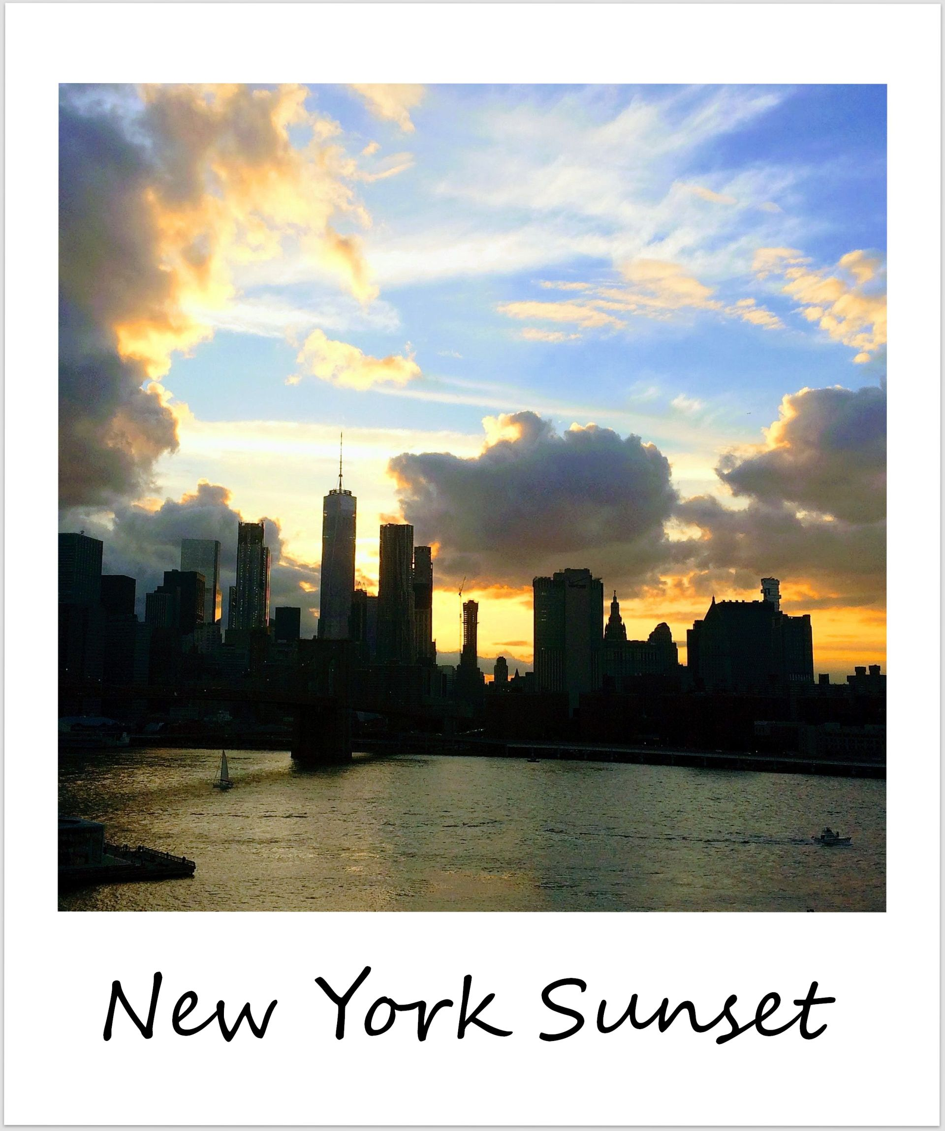 polaroid of the week usa new york city sunset