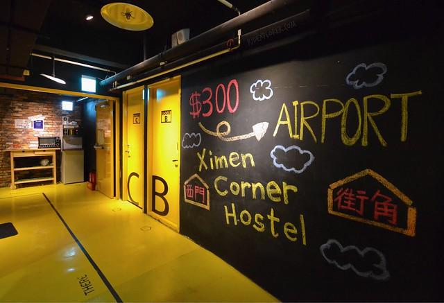 ximen corner hostel shuttle service