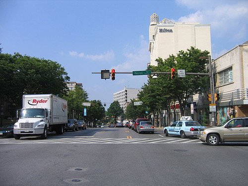 Colesville Road at Fenton Street, Silver Spring