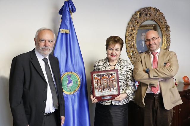 Secretaria General del SICA recibe visita del Director de la Fundación ETEA para el Desarrollo