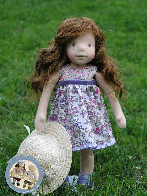 Anne - natural fiber art doll