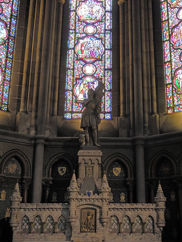 Statue of Joan of Arc in Lille Cathedral in France