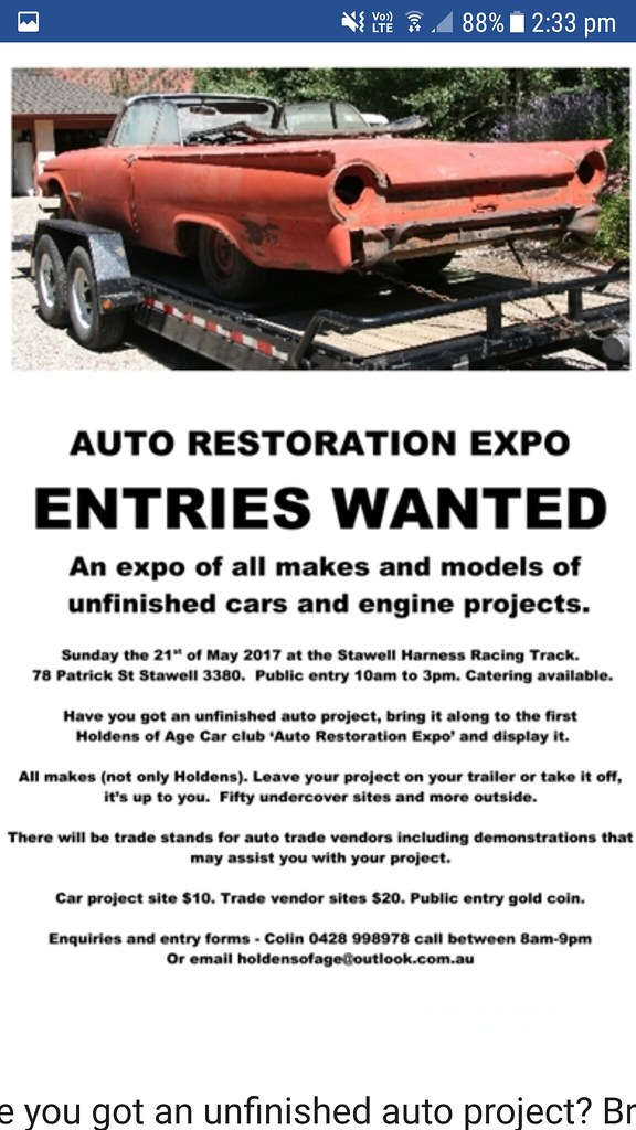 2017 Stawell Auto Restoration Expo Flyer | The flyer for the… | Flickr