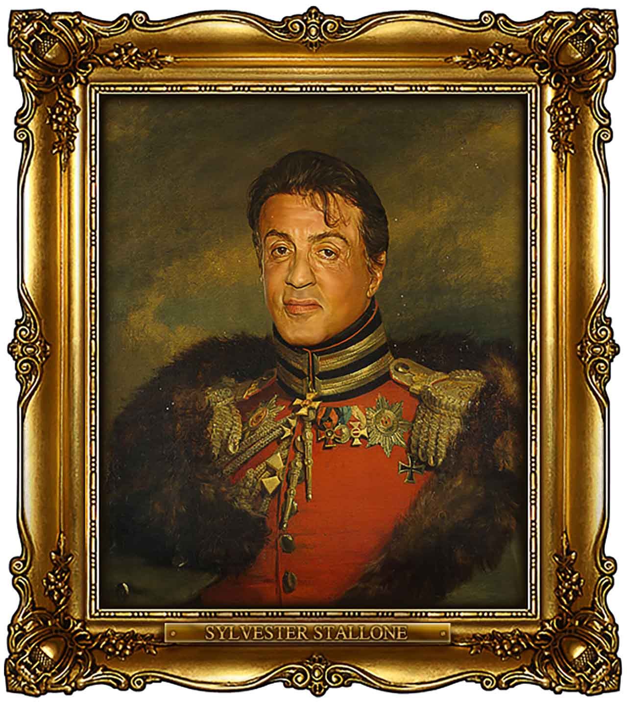 Artist Turns Famous Actors Into Russian Generals - Sylvester Stallone