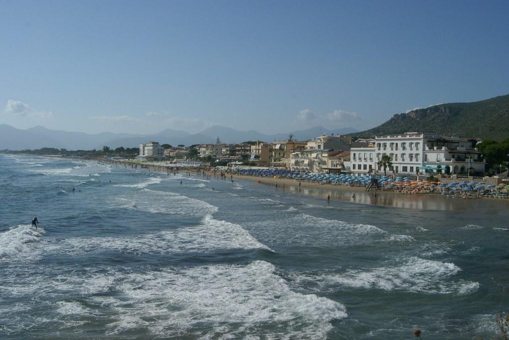 Sperlongan rannat ovat Italian puhtaimpia.
