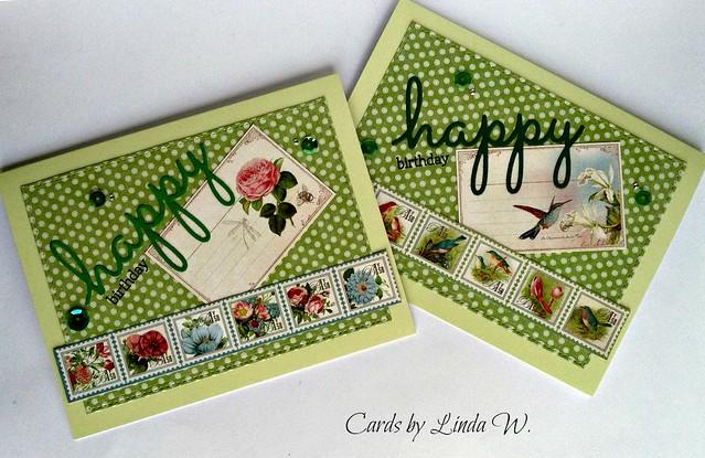 Botanical Tea bday cards
