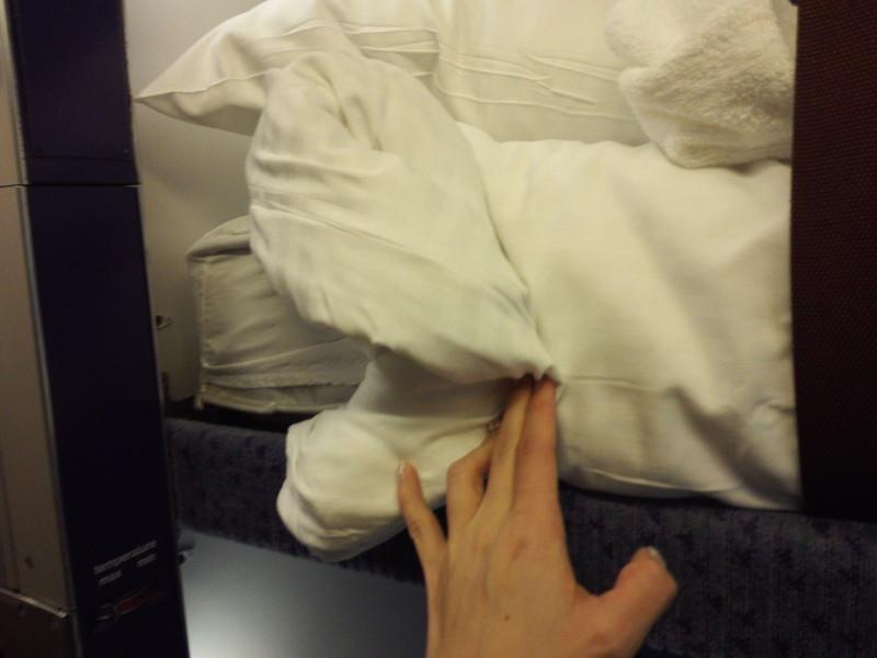 カレドニアン・スリーパーの布団 寝台列車 夜行列車