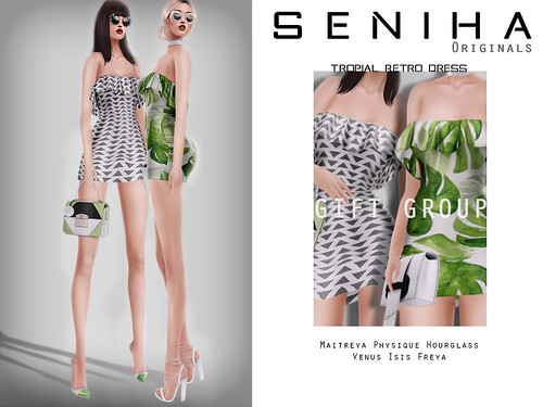 -GIFT- Seniha Originals. Tropical Retro Dress