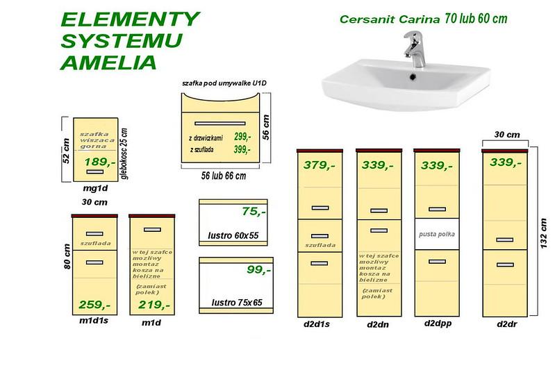 system meble amelia Carina 60 i 70 2017