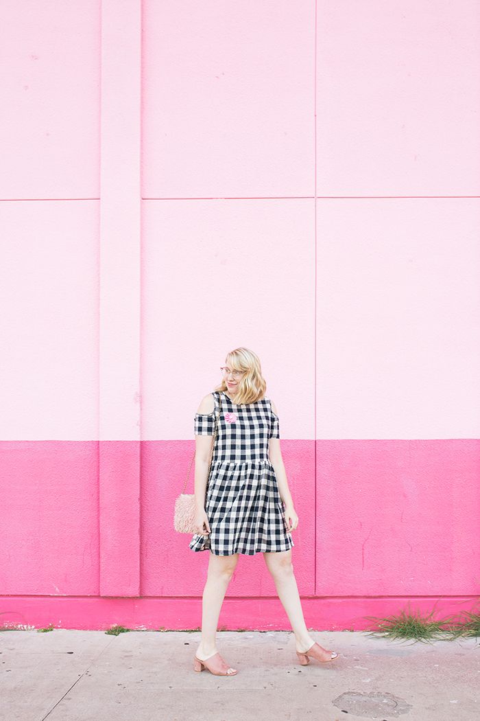 austin fashion blogger writes like a girl gingham dress pink mules8