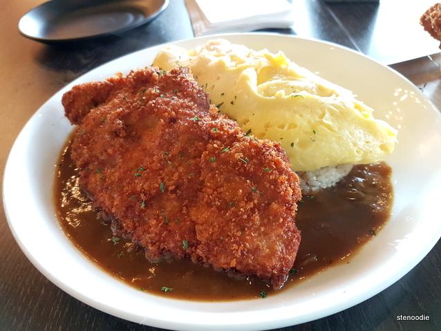Katsu Curry Omelet Rice