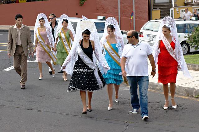 Fiesta queens, Corpus Christi, La Orotava, Tenerife