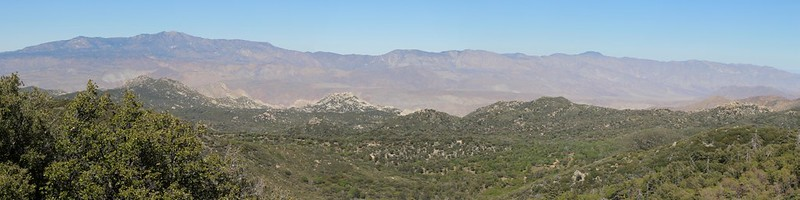 Panorama east from Hot Springs Mountain into the Anza-Borrego Desert