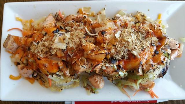 2017-05-25 KIMU sushi - Volcano Eggplant Seafood Yaki