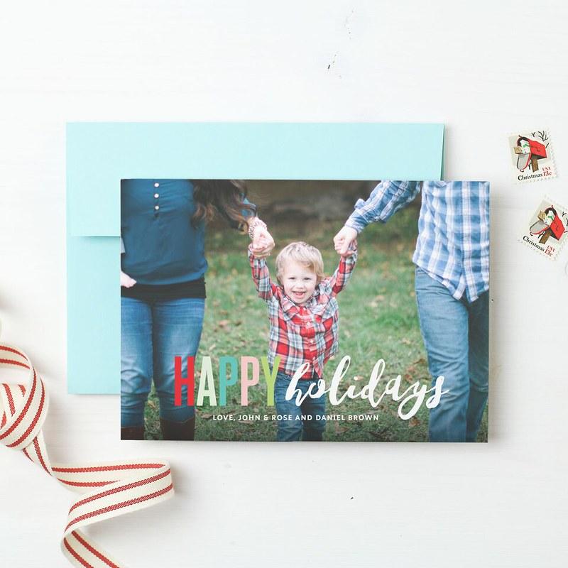 basic invite holiday style
