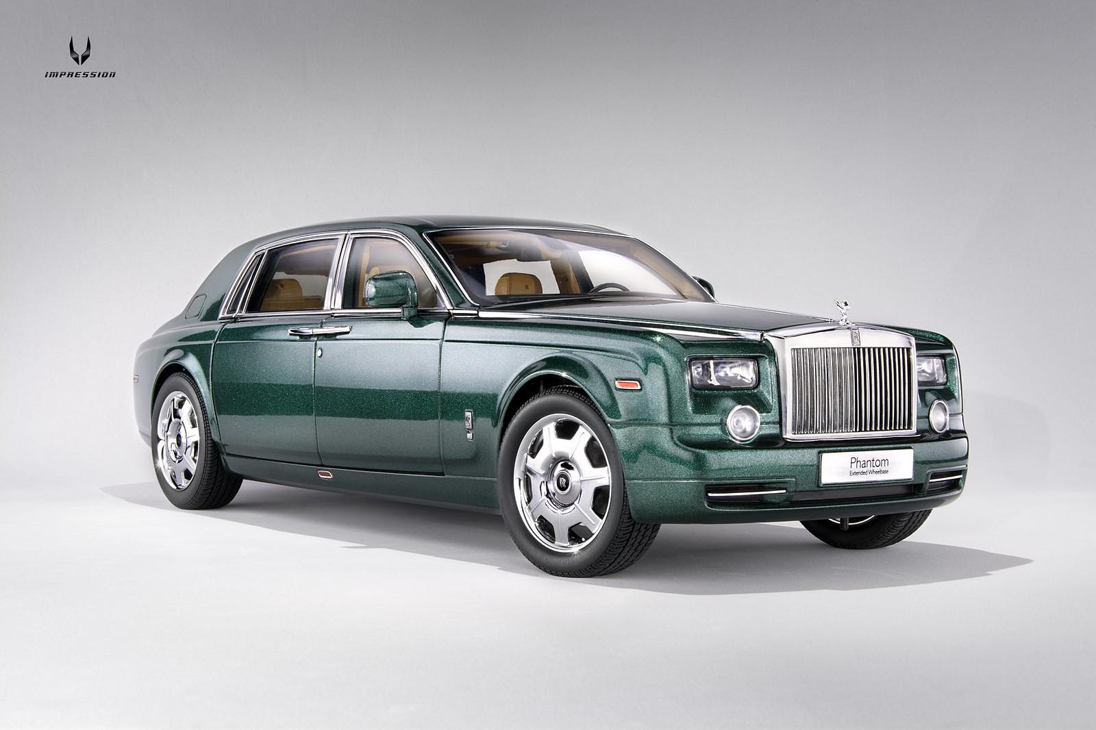 Rolls-Royce Phantom EWB (Brooklands Green) [Kyosho