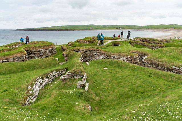 Ausgrabunsgsgelände Skara Brae an der Bay of Skaill