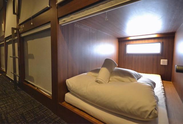 mosaic hostel kyoto capsule bed