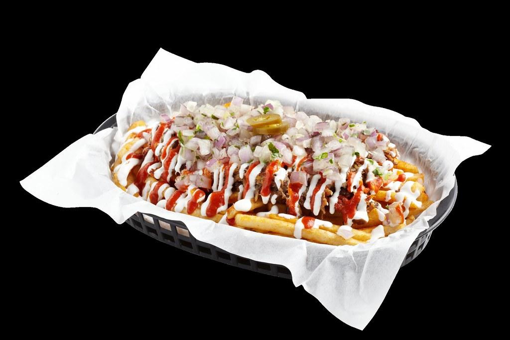 Vatos Express - kimchi carnitas fries
