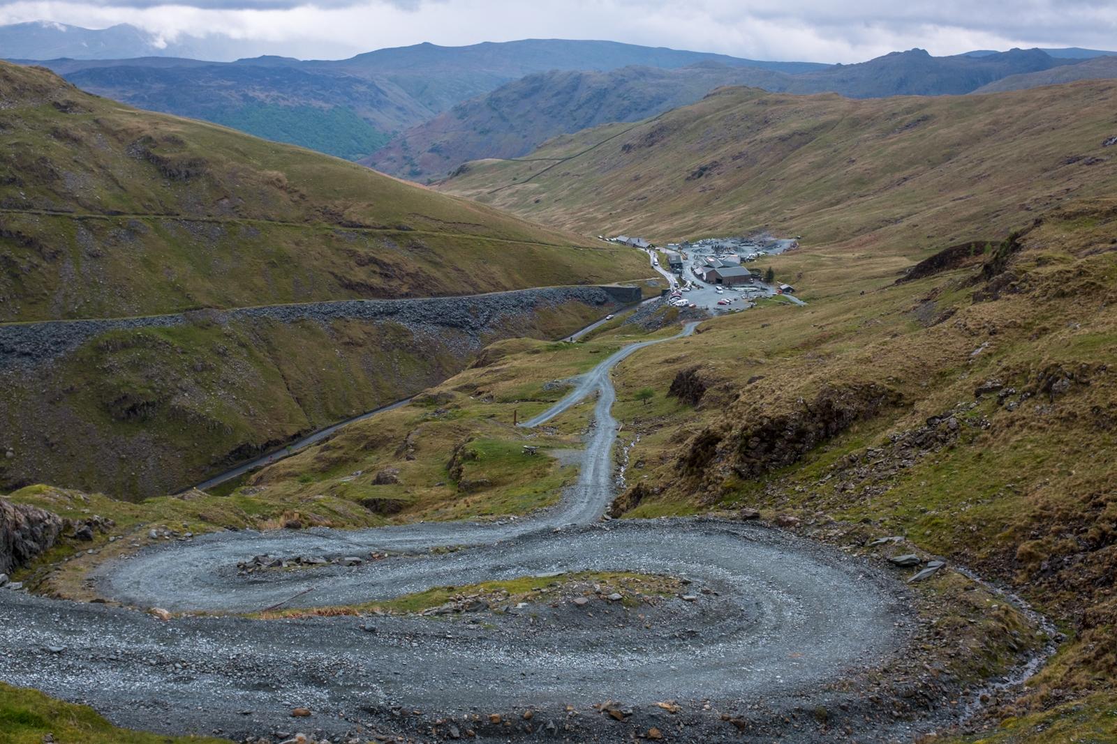 Twisty mine roads