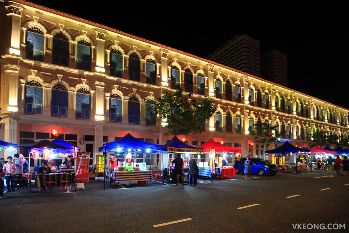 Kapitan Kongsi Hotel Melaka Night Market Stalls