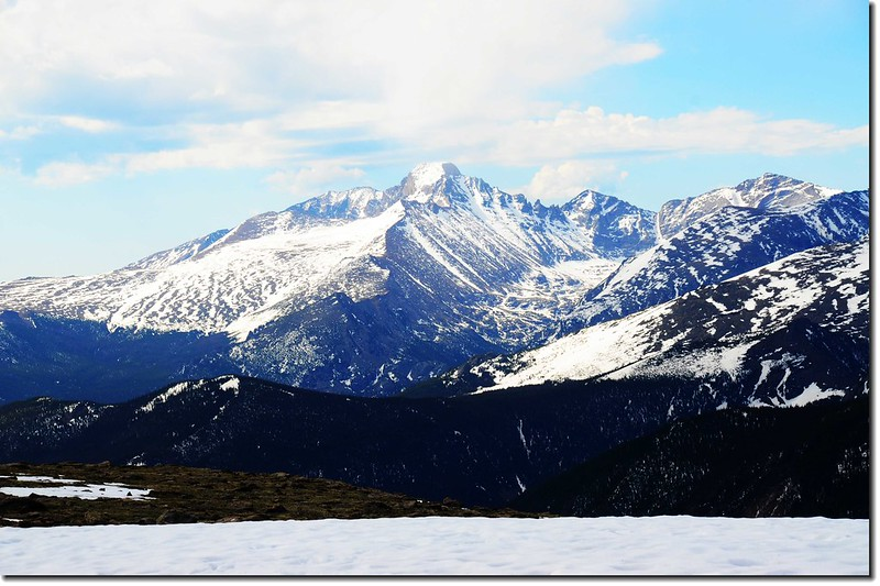 Viewing Longs Peak from Forest Canyon 3