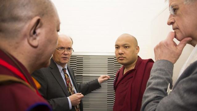 法王噶瑪巴參觀大英圖書館