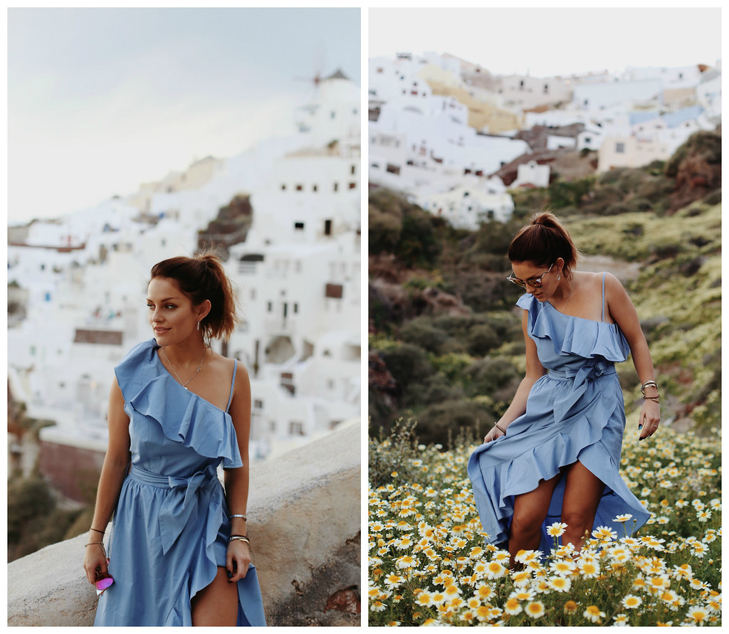 The Little Magpie Sandro Blue Dress Santorini 1