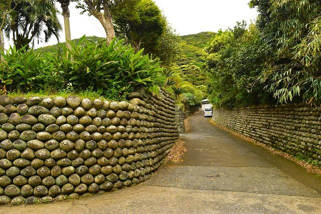 八丈島・大里の玉石垣