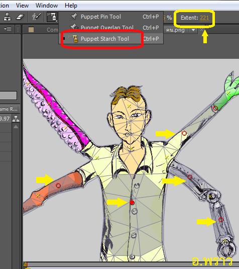 การทำตัวละครขยับด้วย Puppet Pin Tool ใน Adobe After Effects
