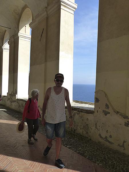 lala et clem dans les loges de Santa Chiara