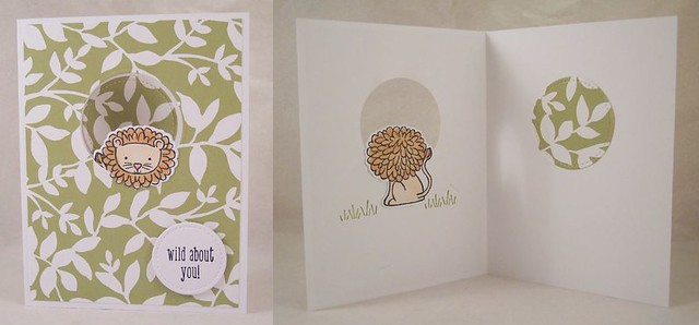 Lion front and back card