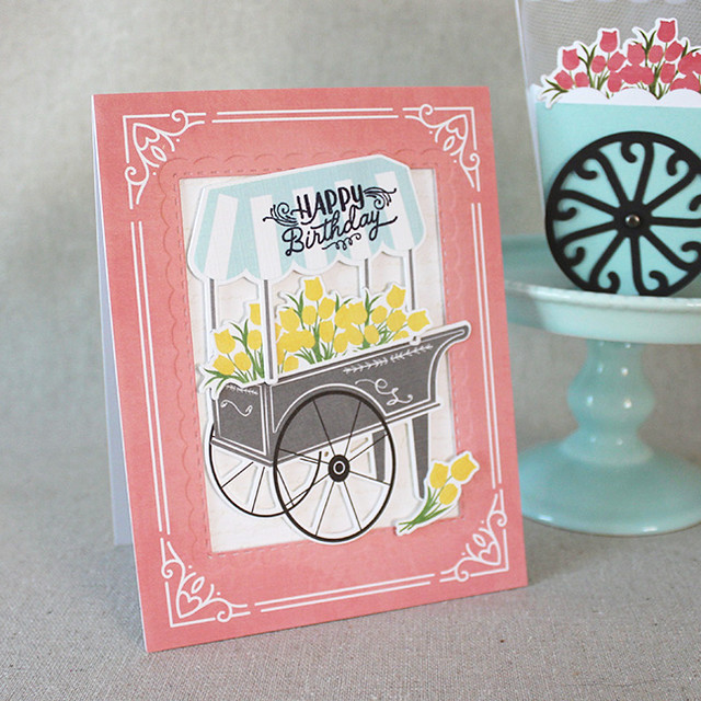 Spring Market Birthday Card