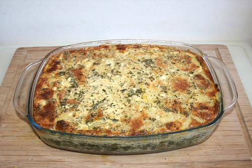 53 - Potato casserole with spinach & feta - Finished baking / Kartoffelauflauf mit Spinat & Schafskäse - Fertig gebacken
