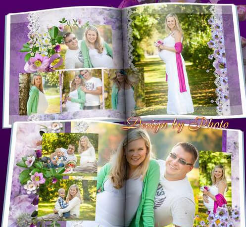 Photobook in Photoshop for the expectant mother – waiting for baby