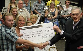 Cancer Research Cheque Pesentation